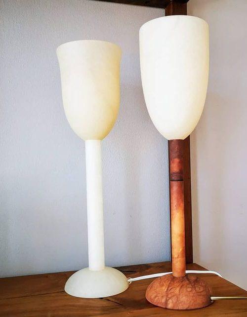 Alabaster Lampe (aus Spanien)