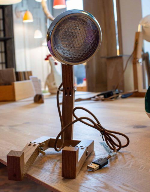 Vintage-Lampe inspiriert von italienischen Rollern